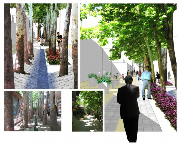 Landscape Design of Bazaar in Mahallat by L.E.D Architects  1
